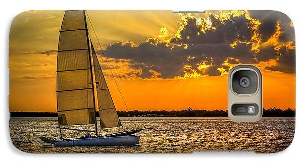 Sunset Sail Galaxy S7 Case
