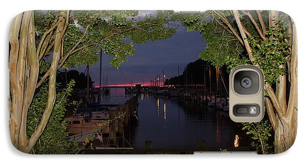 Galaxy Case featuring the photograph Sunset Sailboat Frame by Kelly Reber