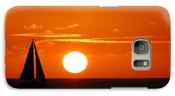 Galaxy Case featuring the photograph Sunset Sailing by Kristine Merc