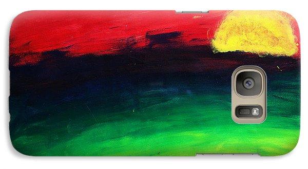 Galaxy Case featuring the painting Sunset by Salman Ravish