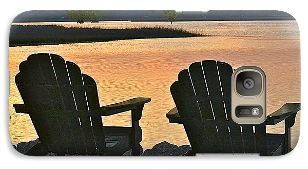 Galaxy Case featuring the photograph Sunset Serenity by Carol  Bradley