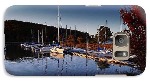 Galaxy Case featuring the photograph Sunset Setting At The Marina by Renee Hardison