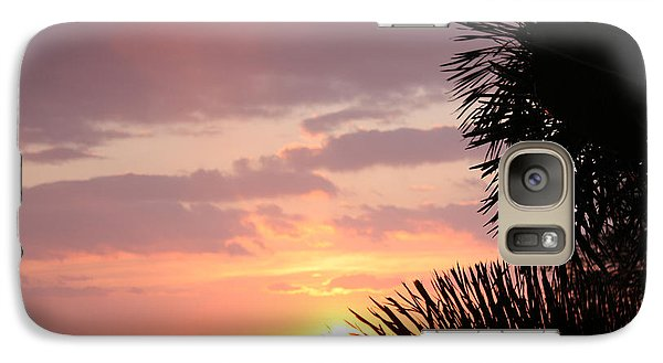 Galaxy Case featuring the photograph Sunset Silhouette 4 by Karen Nicholson