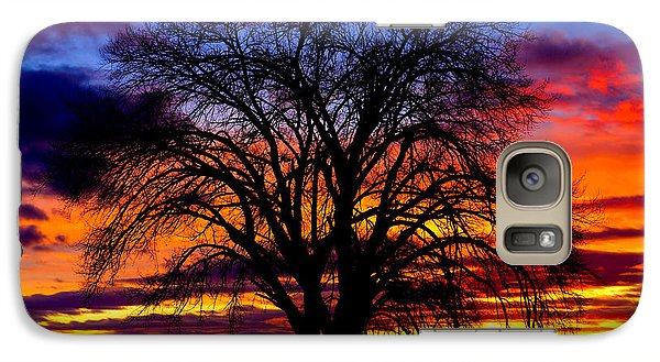 Galaxy Case featuring the photograph Sunset Silhouette by Greg Norrell