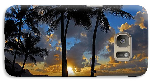Galaxy Case featuring the photograph Sunset Silhouettes by Lynn Bauer