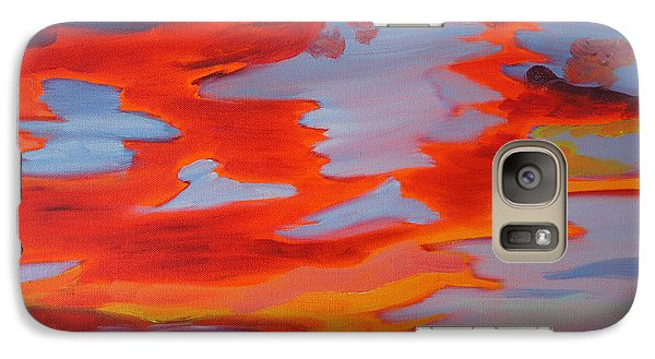 Galaxy Case featuring the painting Sunset Skies by Meryl Goudey