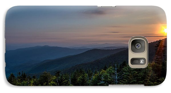 Galaxy Case featuring the photograph Sunset Smokey Mountains  by Kelly Marquardt