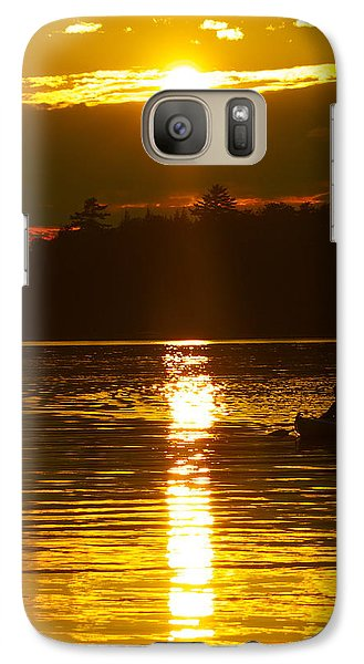 Galaxy Case featuring the photograph Sunset Solitude  by Alice Mainville