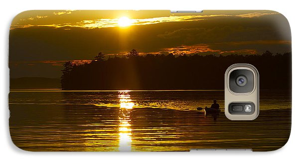 Galaxy Case featuring the photograph Sunset Solitude II by Alice Mainville