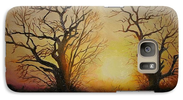 Galaxy Case featuring the painting Sunset by Sorin Apostolescu