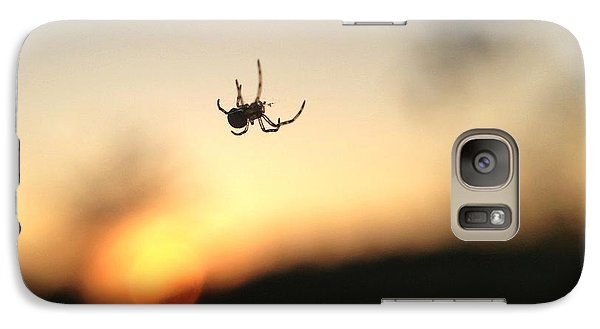 Galaxy Case featuring the photograph Sunset Spidey by Nikki McInnes