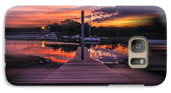 Galaxy Case featuring the photograph Sunset Spin by Glenn Feron