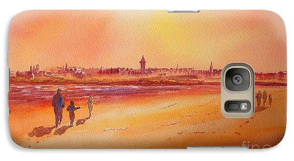 Galaxy Case featuring the painting Sunset St Andrews Scotland by Beatrice Cloake