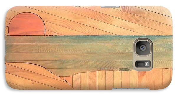 Galaxy Case featuring the painting Sunset  by Stan Tenney