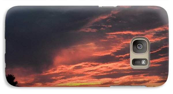 Galaxy Case featuring the photograph Sunset Streaks by Luther Fine Art