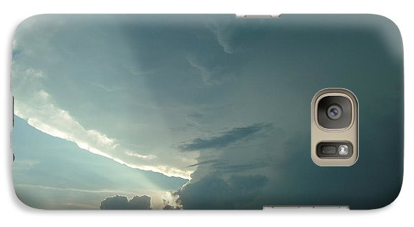 Galaxy Case featuring the photograph Sunset Supercell by Ed Sweeney