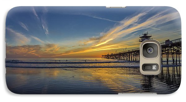 Galaxy Case featuring the photograph Sunset Surf by Sean Foster