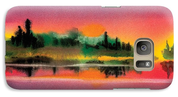 Galaxy Case featuring the painting Sunset by Teresa Ascone