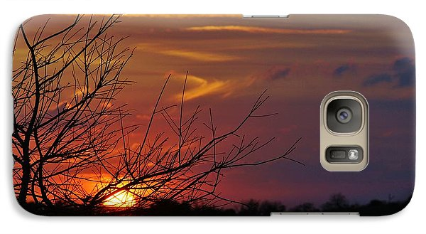 Galaxy Case featuring the photograph Sunset Through The Branches by Lynda Dawson-Youngclaus