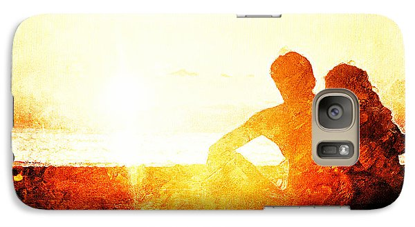 Galaxy Case featuring the digital art Sunset Together by Andrea Barbieri