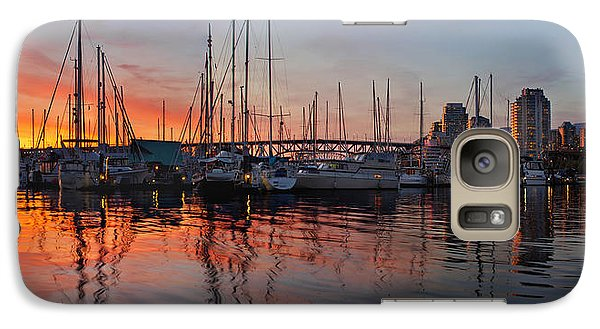 Galaxy Case featuring the photograph Sunset View From Charleson Park In Vancouver Bc by JPLDesigns