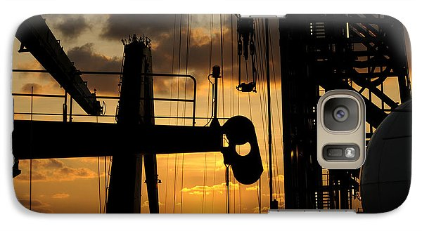 Sunset Viewed From An Oil Rig Galaxy S7 Case