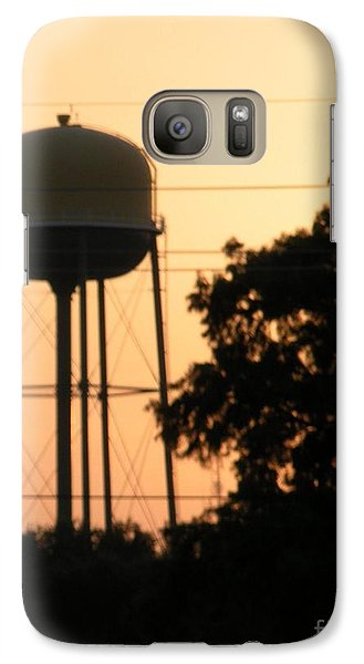 Galaxy Case featuring the photograph Sunset Water Tower by Joseph Baril