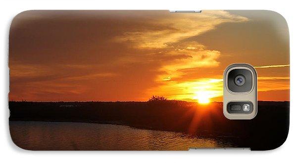 Galaxy Case featuring the photograph Sunset Wetlands by Robert Banach