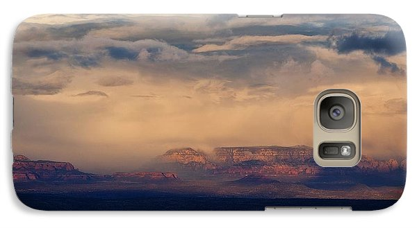 Galaxy Case featuring the photograph Sunset Winter Storm In Secret Mountain Wilderness by Ron Chilston