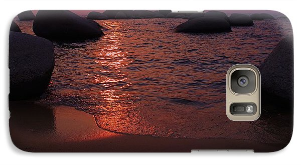 Galaxy Case featuring the photograph Sunset With A Whale by Sean Sarsfield