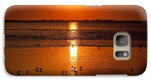 Galaxy Case featuring the photograph Sunset With The Birds Photo by Meg Rousher