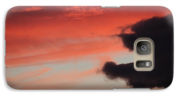 Galaxy Case featuring the photograph Sunset's Fire by Patricia Hiltz
