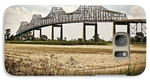 Galaxy Case featuring the photograph Sunshine Bridge Mississippi Bridge by Ray Devlin