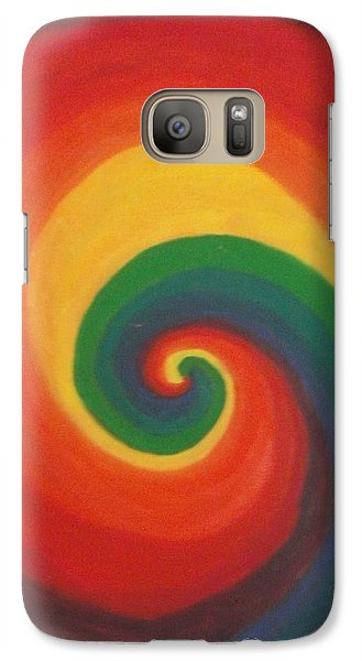 Galaxy Case featuring the painting Sunshine Daydream by Thomasina Durkay