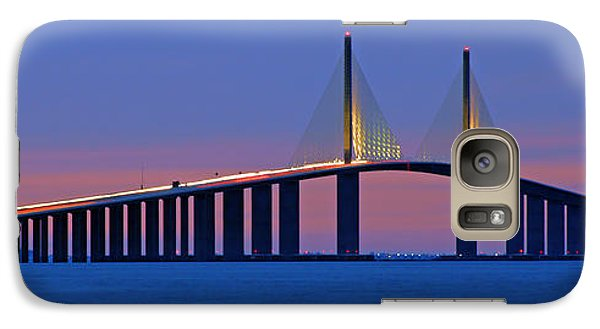 Galaxy Case featuring the photograph Sunshine Skyway At Dusk II by Daniel Woodrum