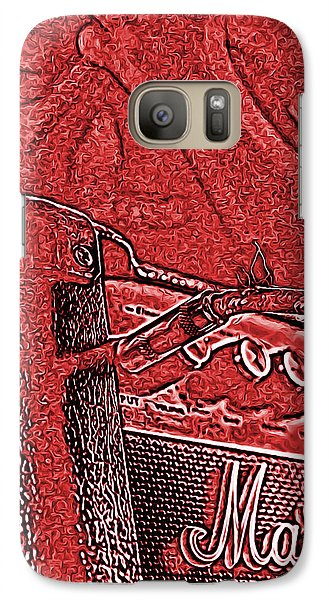 Galaxy Case featuring the photograph Super Grainy Marshall by Bartz Johnson