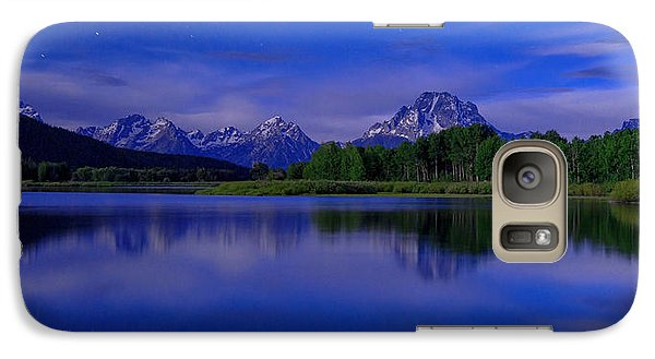 Mount Rushmore Galaxy S7 Case - Super Moon by Chad Dutson