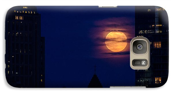 Galaxy Case featuring the photograph Super Moon Rises by Mike Ste Marie