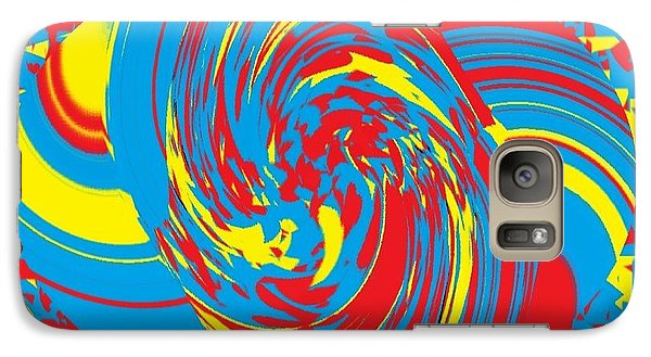 Galaxy Case featuring the painting Super Swirl by Catherine Lott