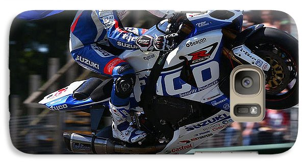 Galaxy Case featuring the photograph Superbike Superhero by Lawrence Christopher