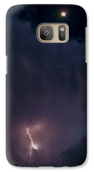 Galaxy Case featuring the photograph Supercell Moon by Ed Sweeney