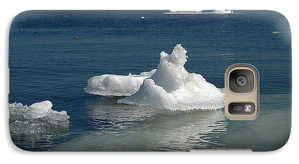 Galaxy Case featuring the photograph Superior Blues And Ice by Sandra Updyke