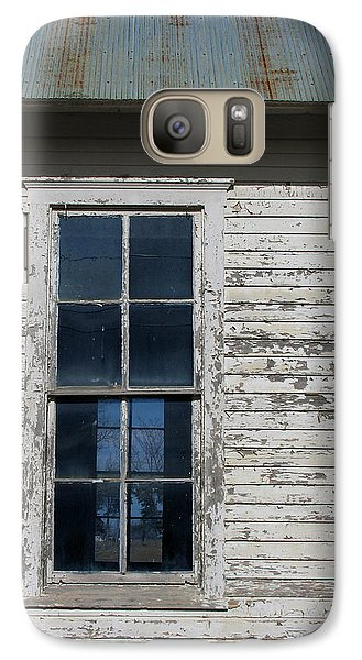 Galaxy Case featuring the photograph Superior Schoolhouse Window by Rod Seel