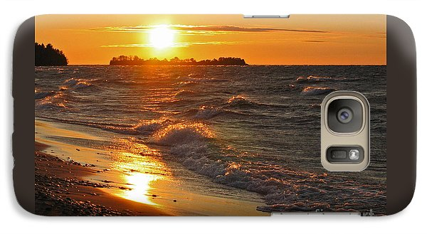 Galaxy Case featuring the photograph Superior Sunset by Ann Horn