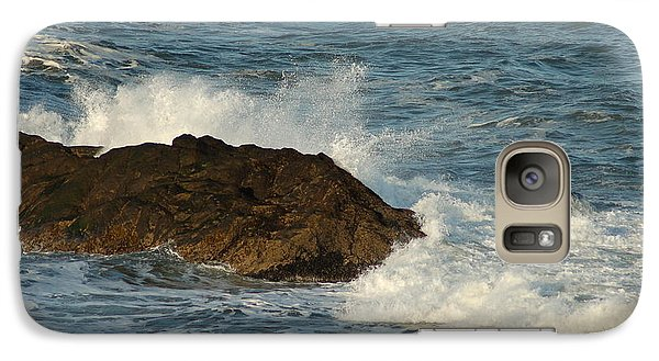 Galaxy Case featuring the photograph Surf And Rocks by Ron Roberts