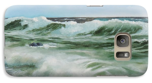 Galaxy Case featuring the painting Surf At Castlerock by Barry Williamson