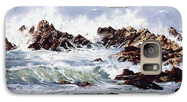 Galaxy Case featuring the painting Surf At Lincoln City by Craig T Burgwardt
