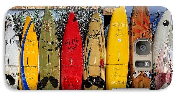 Surf Board Fence Maui Hawaii Galaxy S7 Case