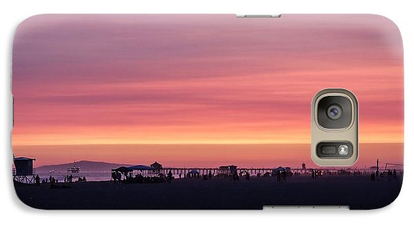 Galaxy Case featuring the photograph Surf City Sunset by Kevin Ashley