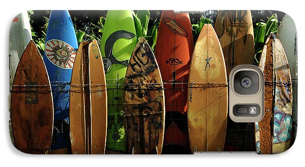 Surfboard Fence 4 Galaxy Case by Bob Christopher